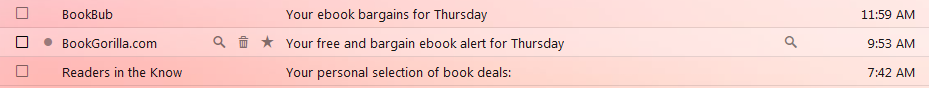 Book marketing emails