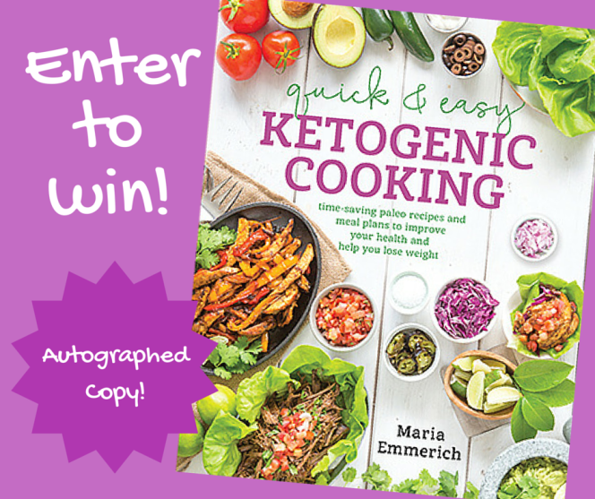 Ketogenic Cookbook Giveaway