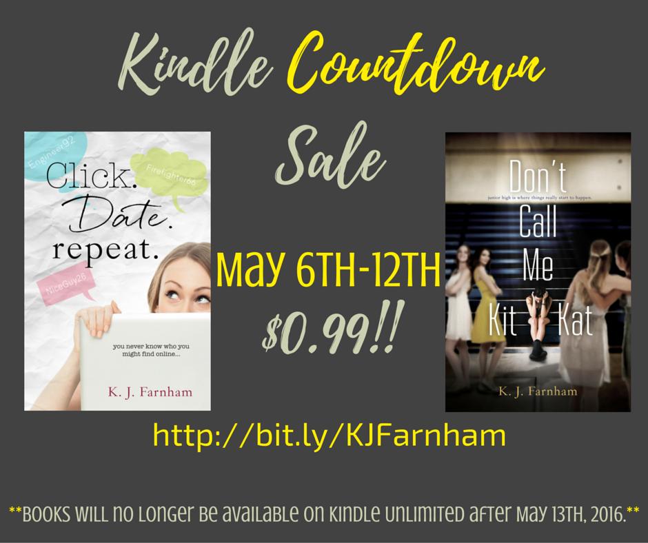 Kindle Countdown Sale Both Books